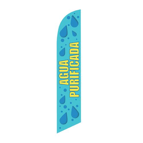 Agua Purificada Spanish Feather Banner