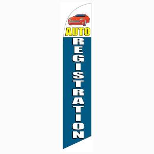 Auto Registration Banner Flag
