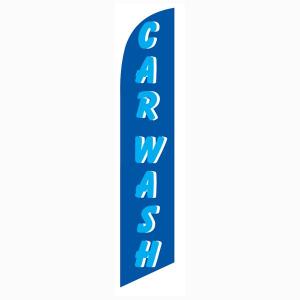 Car Wash Blue Cyan Feather Flag