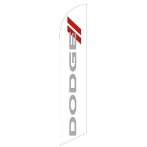 Dodge White Feather Flag