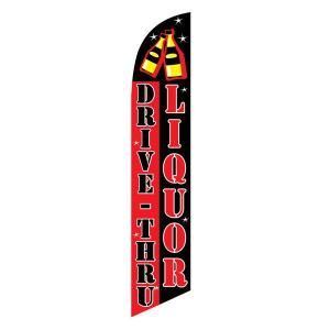 Drive Thru Liquor Feather Flag