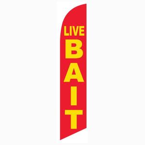 Live Bait Feather Flag