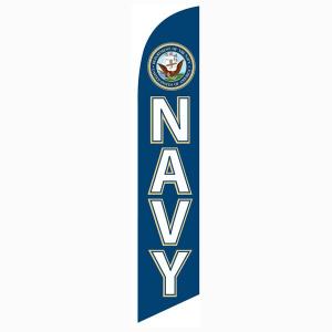 Navy Feather Flag