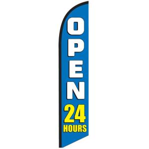 Open 24 Hours Blue