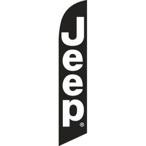 Black Jeep Flag Banner