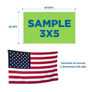 3x5 flags dimensions specs