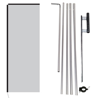 stock rectangle flag poles and ground spike with clamp
