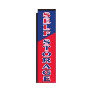 Self storage red blue rectangle flag 312NS10024