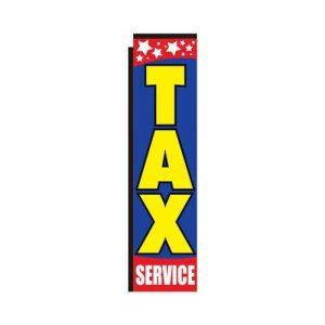 Tax service rectangle flag 312NS10160