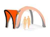 10x10 AirDome AwningHardware Orange021 WHITE BACKGROUND