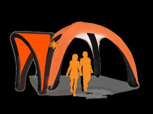 13x13 AirDome AwningHardware Orange021