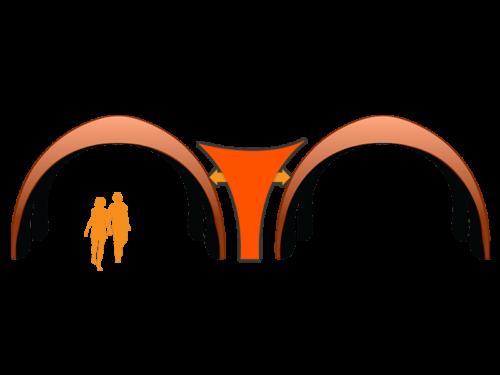 17x17 17x17 AirDome Connector Orange021