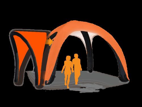 17x17 AirDome AwningHardware Orange021