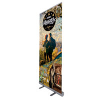 ONE CHOICE 33.5 in. Good Roll Up Banner Stand Graphic Package 2