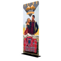 One Choice Fabric Display 3 ft x 7 5 ft Double Sided Graphic Package 2