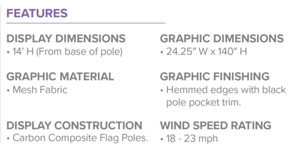 One Choice Feather Flag Large Spike Base Spec Sheet v2