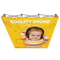 One Choice 8 ft Fabric Pop up Straight Single Sided Graphic Package 2