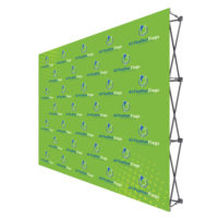 ONE CHOICE 10 Ft. Fabric Pop Up Display 89H Straight Graphic Package 1