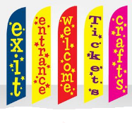 events festivals feather flags